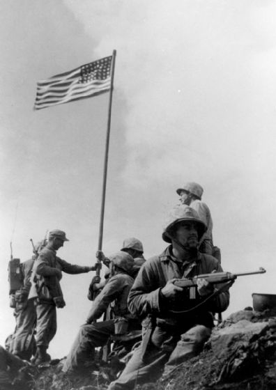 Iwo Jima First Flag Raising. Print/Poster (5223)